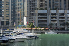 Yacht in Dubai Marina Royalty Free Stock Photos