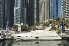 Yacht Dubai Marina Stock Photo