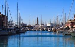 Yacht e barche nel porto Fotografia Stock