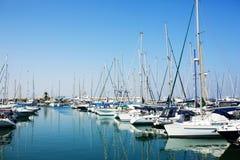Yacht e barche in vecchio porto Fotografia Stock