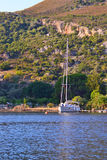 Yacht e mare Immagini Stock