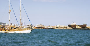 Yacht e navi Fotografia Stock Libera da Diritti