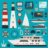 Yacht ed attrezzature Immagini Stock