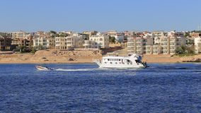 Yacht in Egypt stock footage