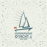 Yacht emblem Stock Images