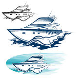 Yacht Emblem set Stock Photography