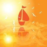 Yacht en mer ouverte Photographie stock libre de droits