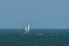 A yacht on the English Channel Stock Photo