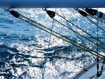 Yacht equipment Stock Images