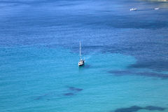 Yacht in Es Cubells; Ibiza Royalty Free Stock Photography