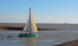 Yacht at the Estuary of the river Deben Royalty Free Stock Photography