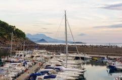 Yacht et port de pêche - Maratea images libres de droits