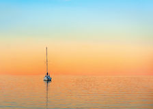 Yacht in evening Stock Photos