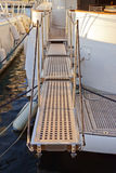 Yacht extended telescopic gangway Stock Image