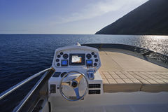 yacht för öitaly lyxig sicily stromboli Royaltyfri Bild