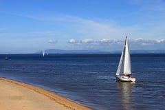 yacht för bred flodmynningfleetwood wyre Fotografering för Bildbyråer