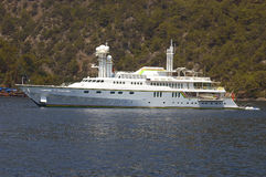 yacht för dollar miljon royaltyfri bild