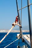 yacht för dubbdetaljrep Fotografering för Bildbyråer