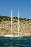 yacht för förlage två Arkivfoton