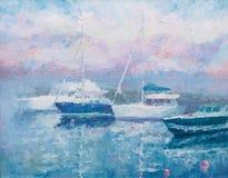 yacht för klubbamorgonpink royaltyfri illustrationer
