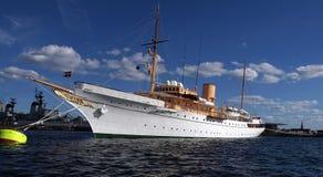 yacht för kunglig person s för danneborgdenmark drottning Royaltyfria Bilder