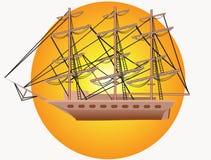 yacht för mast tre Royaltyfri Fotografi