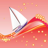 yacht för rött hav vektor illustrationer