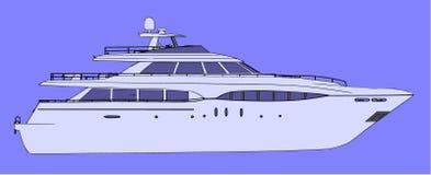 yacht för sidovektorsikt stock illustrationer