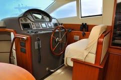Yacht för styrningshjul Royaltyfri Foto