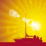 Yacht för Sunflare apelsin 1 royaltyfri illustrationer