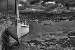 Yacht in Falmouth harbour Cornwall Stock Image