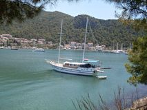 Sailing yacht in Fethiye Stock Photos