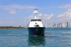 Yacht fishing yacht Stock Photo