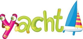yacht för bokstav y Arkivbilder