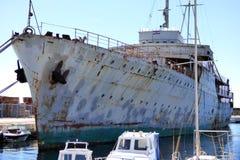 Yacht Galeb di Tito nel porto croato di Rijeke Fiume fotografie stock libere da diritti
