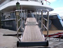 Yacht Gangplank royalty free stock image