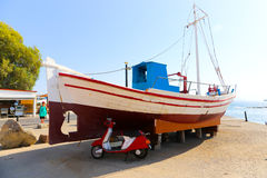 Yacht greci fotografia stock libera da diritti