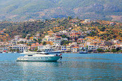 Yacht - Greece royalty free stock photo