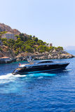 Yacht - Greece stock images