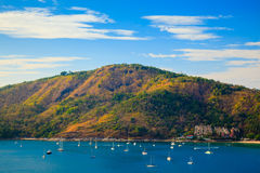Yacht group at Phuket, Thailand Stock Photos