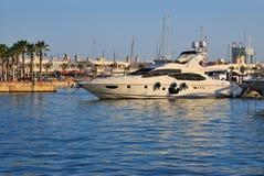 Yacht am Hafen Stockbild