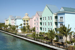 Yacht-Hafen Bahamas-, Nassau Stockbild