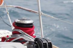 Yacht-Handkurbel Stockfotografie