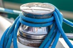 Yacht-Handkurbel Stockfoto