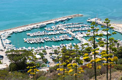 Yacht harbor Stock Images