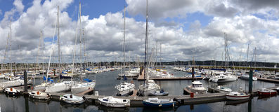 Yacht harbor in Brest, Brittany Royalty Free Stock Photo