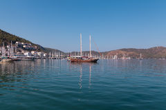 Yacht harbor, Fethiye, Turkey Stock Photos