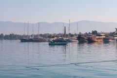 Yacht harbor, Fethiye, Turkey Stock Photo