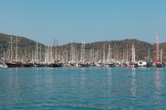 Yacht harbor, Fethiye, Turkey Stock Photography