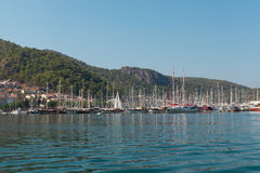 Yacht harbor, Fethiye, Turkey Royalty Free Stock Photo